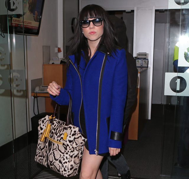 Singer Carly Rae Jepsen leaving BBC Radio 1 studios in London