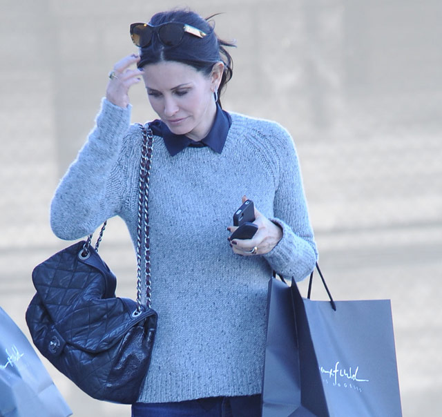 Courtney Cox Chanel Classic Flap Bag