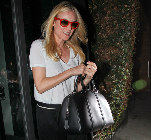 Diane Kruger leaving the Benjamin hair salon in West Hollywood