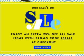 Take an extra 25% off the Kate Spade Sale!