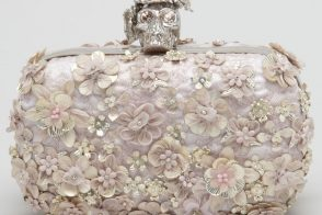 This Alexander McQueen adds some blooms to the famous Skull Clutch