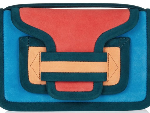 Pierre Hardy Color-block suede shoulder bag
