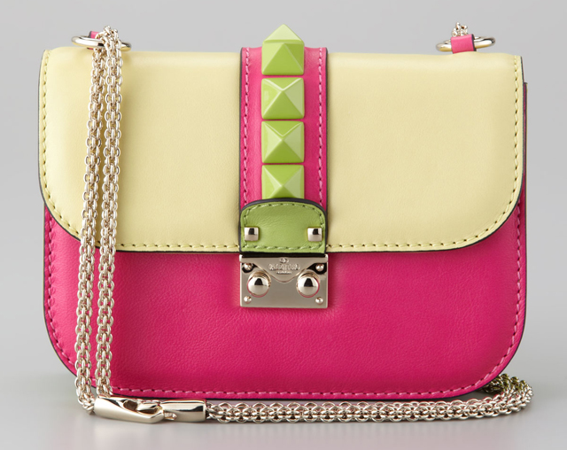 Valentino Glam Rock Colorblock Flap Bag