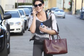 Ashley Greene carries Chanel after a workout