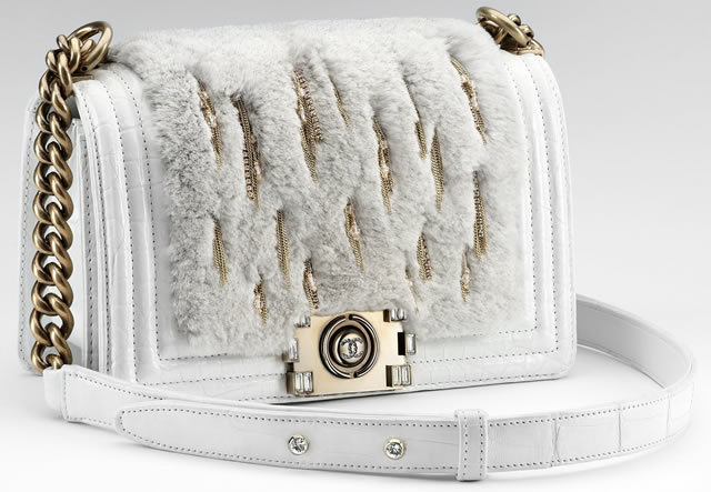 0dcf43c3076405 The exclusive and extraordinary winter white Boy Chanel Bag - PurseBlog