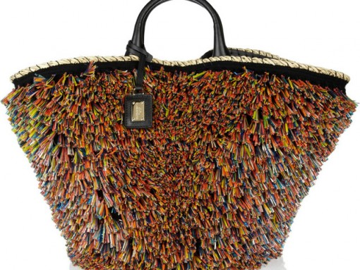Dolce and Gabbana Miss Kendra Straw Shopper