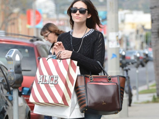Emmy Rossum shops in West Hollywood