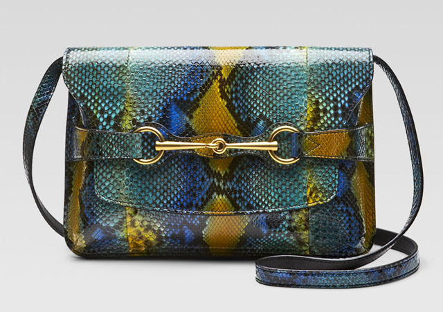Gucci Bright Bit Python Shoulder Bag