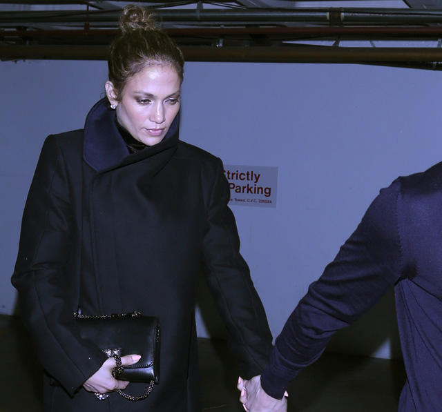 Jennifer Lopez and her boyfriend Casper Smart were seen leaving Madeo Restaurant in Beverly Hills, CA