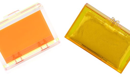 Look for Less: Orange Lucite