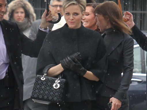 Princess Charlene of Monaco carries Dior to the Dior Haute Couture show