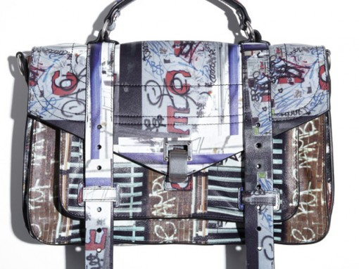 Proenza Schouler Graffiti Print Leather PS1