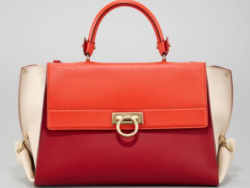 Salvatore Ferragamo Colorblocked Sofia