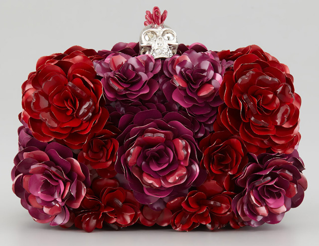 Alexander McQueen Metal Flower Box Clutch