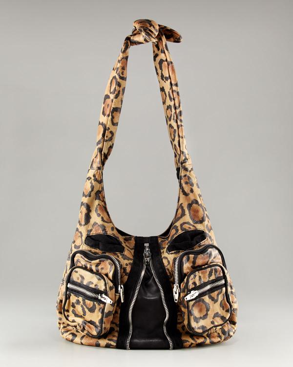 Alexander Wang Donna Leopard Hobo