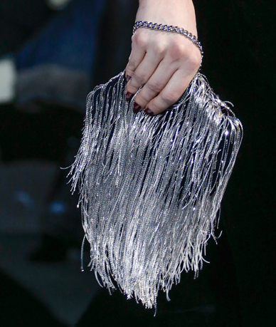 Armani Fall 2013 Fringe Clutch