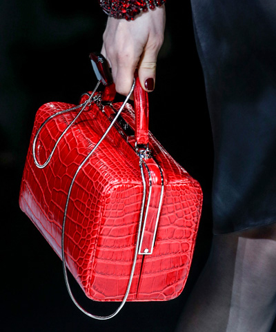 Armani Fall 2013 Red Crocodile Top Handle