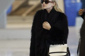 Ashley Olsen totes The Row's latest bag en route to New York