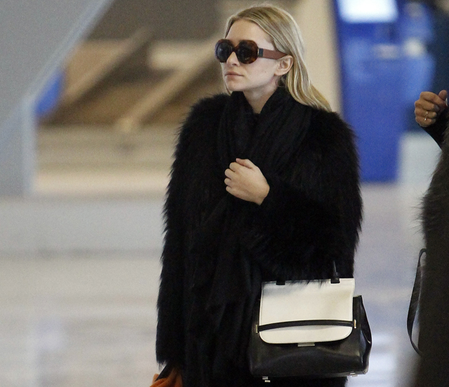 Ashley Olsen The Row Fall 2013 Bicolor Bag