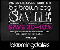 Its the Big Brown Sale at Bloomingdales