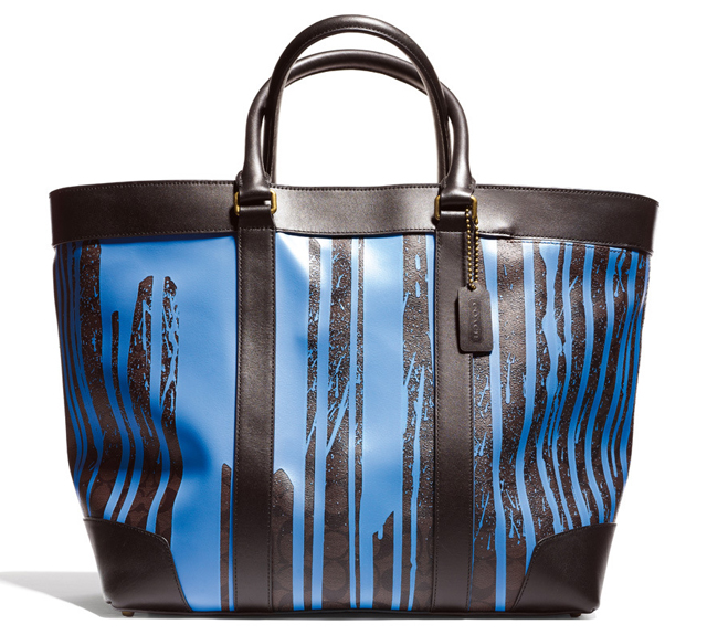 Coach x KRINK Blue and Brown Tote