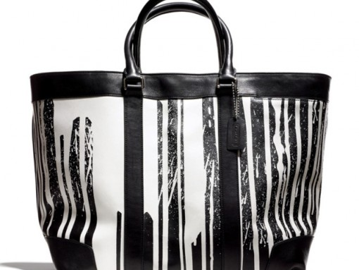 Coach x Krink Large Black and White Tote