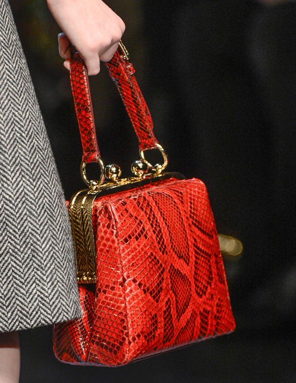 Dolce & Gabbana Fall 2013 Red Python Handbag