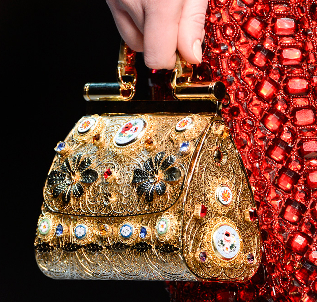 Dolce & Gabbana Fall 2013 Filigree Gold Handbag