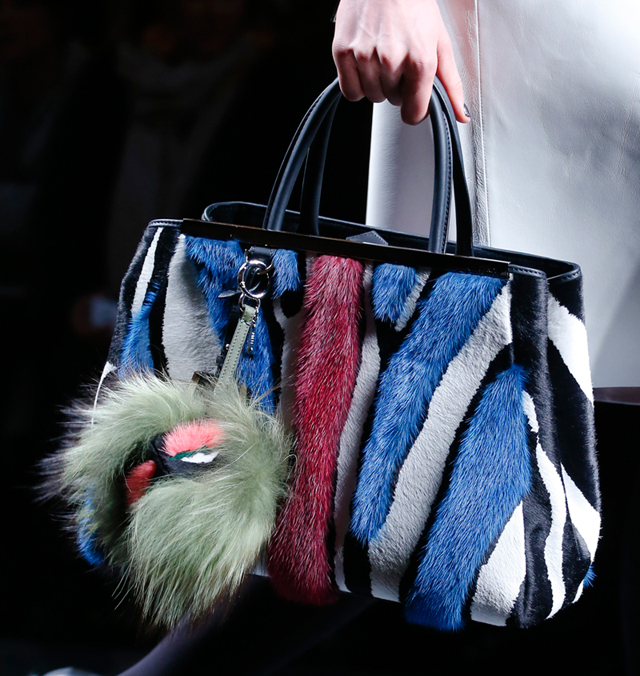 Fendi Fall 2013 Fur Striped 2Jours Tote