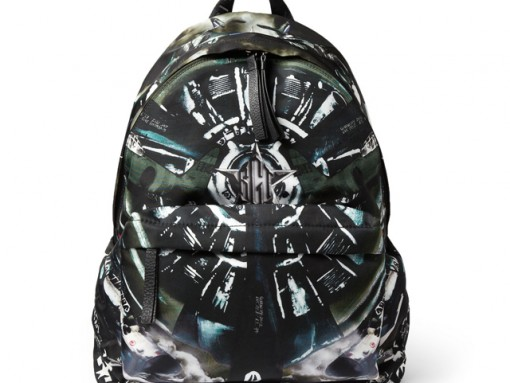 Givenchy Airplane Print Leather Trim Backpack