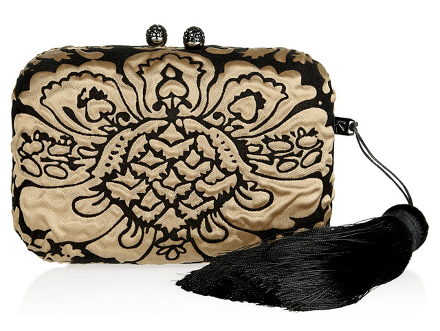 Kotur Margo Brocade Box Clutch