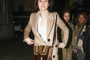 Michelle Dockery carries Burberry in London