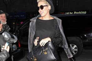 Miley Cyrus totes Versace in NYC