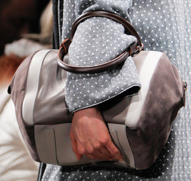 Missoni Fall 2013 Suede and Leather Tote Bag