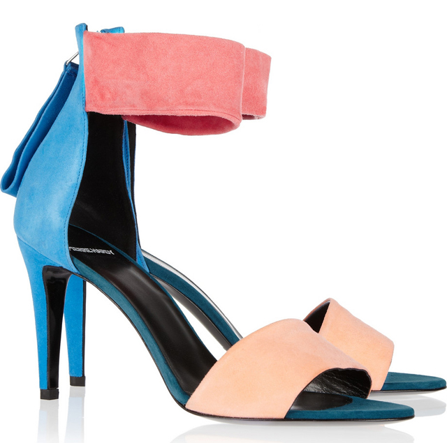 Pierre Hardy Colorblock Suede Sandals