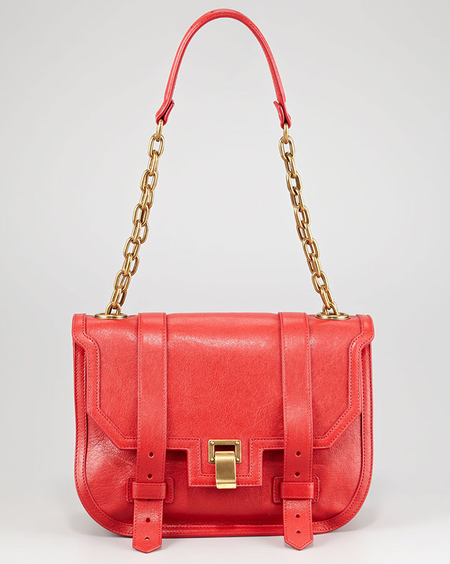 Proenza Schouler PS1 Mini Messenger in Red