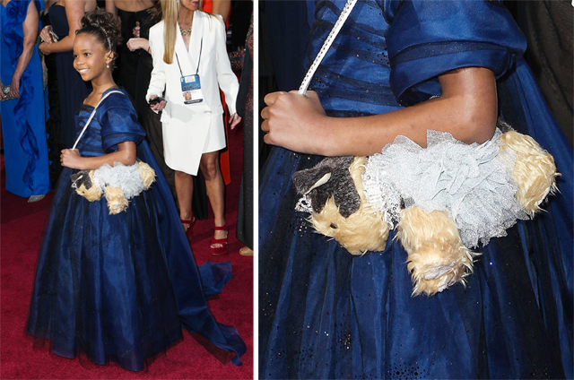 Quvenzhane Wallis carried a puppy purse to the 2013 Academy Awards