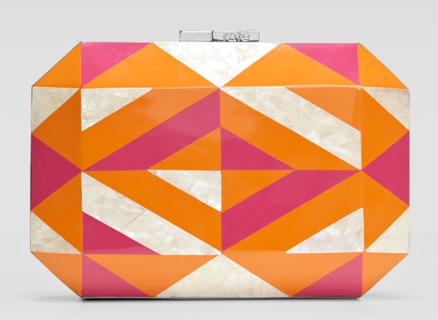 Rafe Dawn Shell and Enamel Clutch