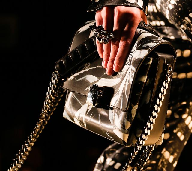 Roberto Cavalli Fall 2013 Printed Shoulder Bag