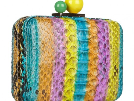 Fill in the Blank: The Sophia Webster Azealia Striped Python Clutch is…
