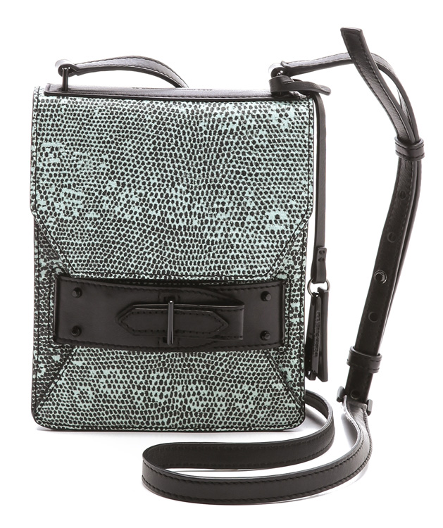 10 Crosby Derek Lam Lizard Folio Crossbody
