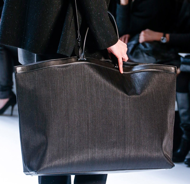 Akris Fall 2014 Woven Black Tote Bag