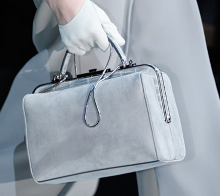 Armani Smooth Chain Suede Bag