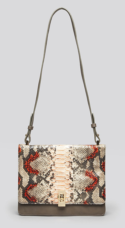 Be & D Parker Snake Shoulder Bag