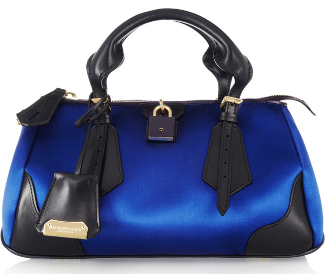 Burberry Prorsum Silk-Sateen and Leather Tote