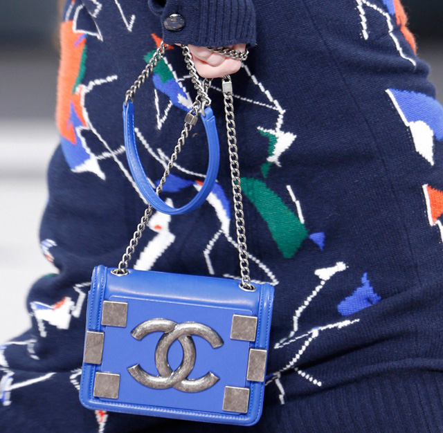Chanel Fall 2013 Small Blue Shoulder Bag
