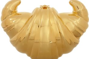 Charlotte Olympia Croissant gold-plated clutch