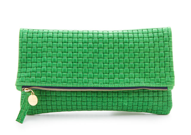 Clare Vivier Woven Fold Over Clutch