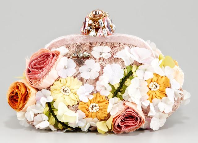 Dolce & Gabbana Miss Dea Lace & Floral Pouchette Clutch