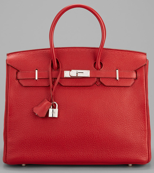 Hermes Birkin Bright Red Togo 35cm